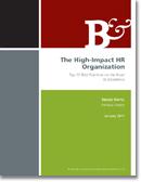 Resumen de La organización de Recursos Humanos de alto impacto